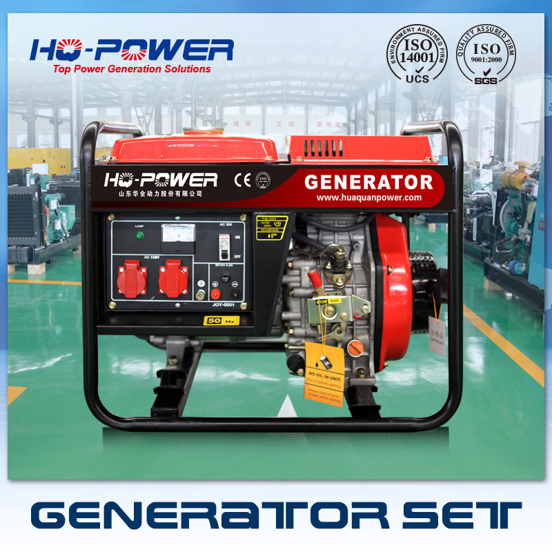 220 volt small portable diesel generator 3000 watt myanmar for sale