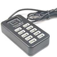 New Multi 10 Ports High Speed USB 2 0 USB Charger On Off Switch Portable USB