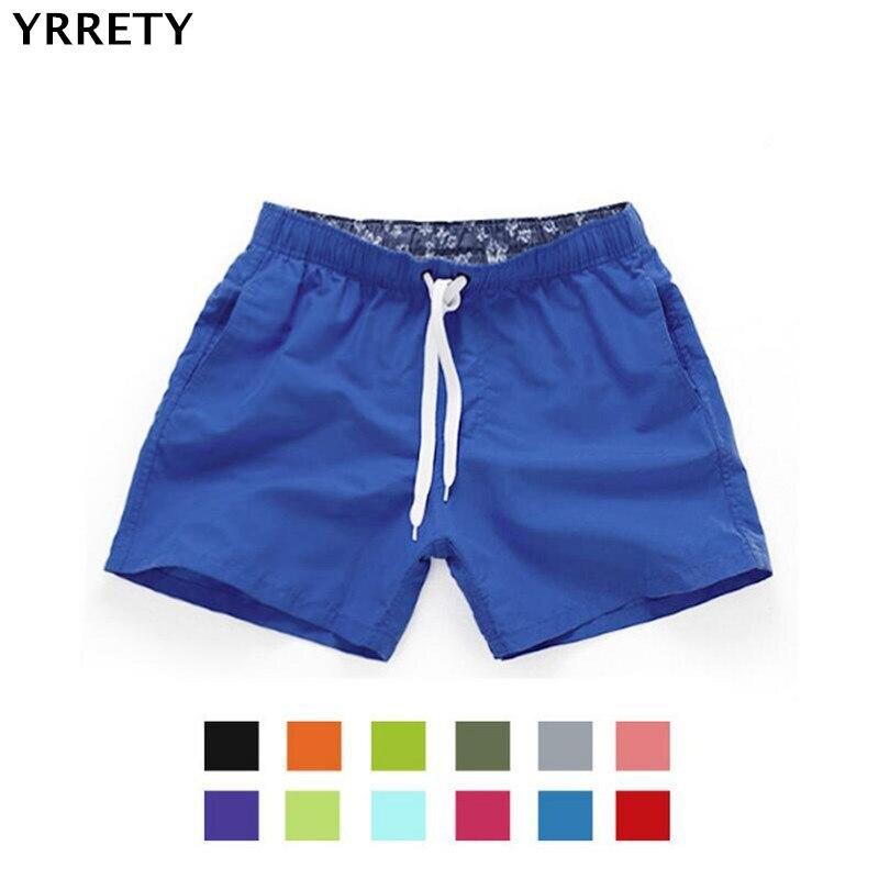 YRRETY Pocket Quick Dry Swimming Shorts For Swimwear Women Swimsuit Swim Trunks Summer Bathing Beach Wear Surf Shorts