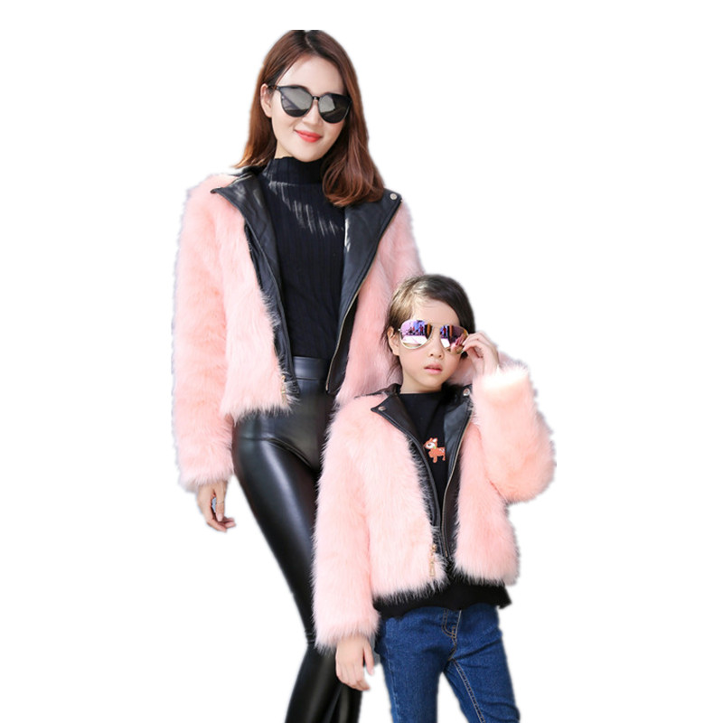 a25cf289c Mother and Daughter Clothes for 2018 Winter Family Matching Coats ...