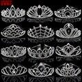 Тиары и короны AINAMEISI свадебные, модные роскошные украшения для волос с кристаллами, с расческой, большая корона, бижутерия для волос