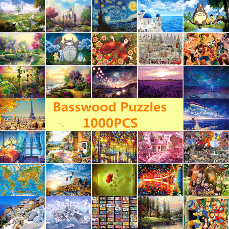 Bassos Wool Adult 1000 Pieces Wooden Puzzle Cartoon jigsaw Puzzles For Children Educational Toys Best Christmas Gift Home Decor virgo the wooden puzzle 1000 pieces ersion jigsaw puzzle white card adult heart disease mental relax 12 constellation toys