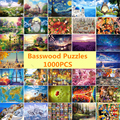 Bassos Wool Adult 1000 Pieces Wooden Puzzle Cartoon jigsaw Puzzles For Children Educational Toys Best Christmas Gift Home Decor