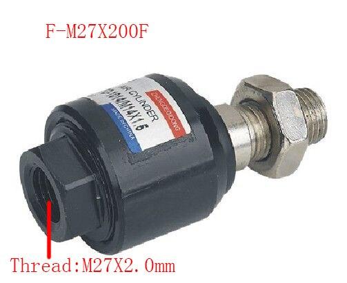 Livraison gratuite 1 pièces flottant Joint M27x2.0mm femelle à mâle filetage pneumatique cylindre Piston chape, F-M27X200F