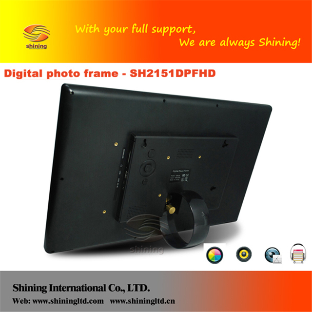 SH-SW2151DPF21Inch lcd memories digital picture frame Support CF SD Card HDMI input