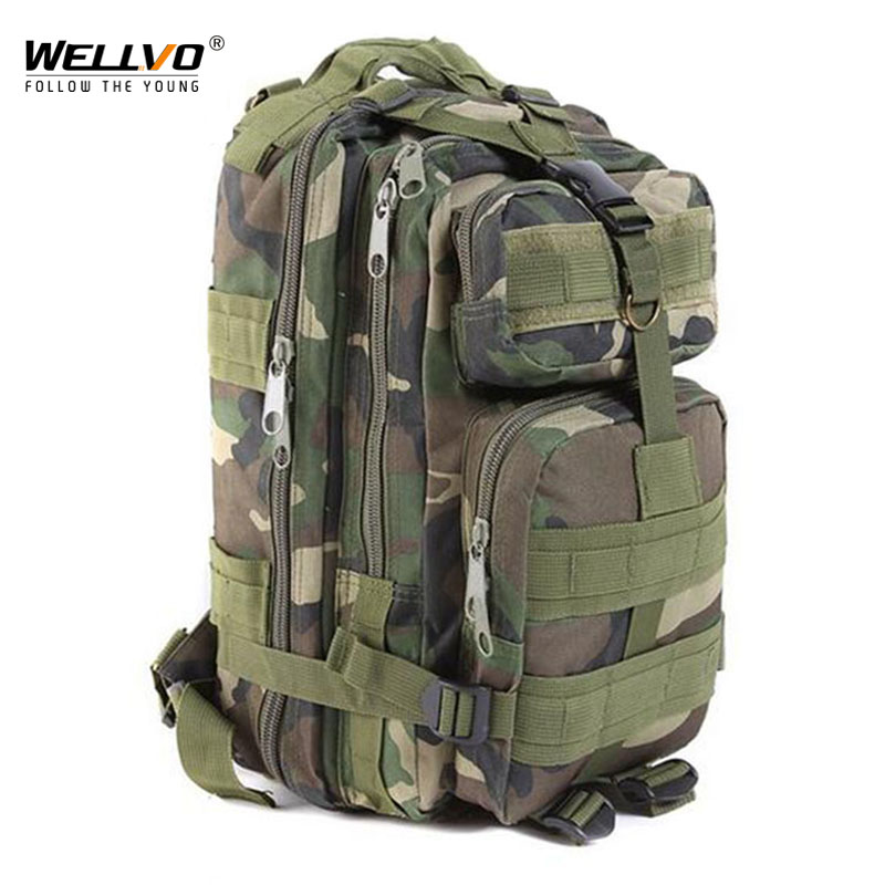 все цены на 2018 Large Capacity Canvas Camouflage Molle Military Backpacks Men Male Multifunctional Army Bags Travel Tourist Rucksack XA202C