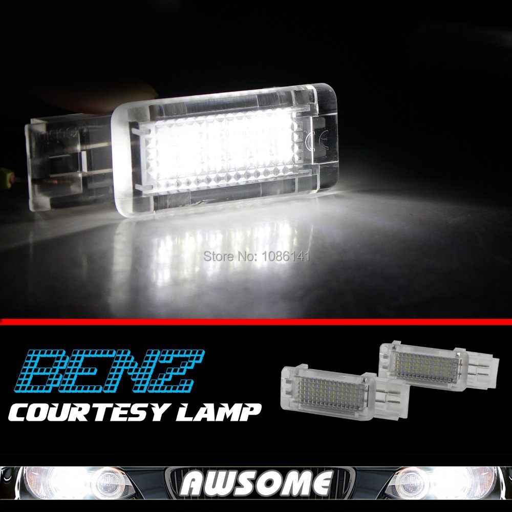 2x CANBUS ERROR FREE LED Step Courtesy Footwell Under Door Lights Light For LED Courtesy Light For BENZ SLK SLR CLK C Class