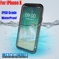 Original IP68 Shock Drop Waterproof Case For IPHONE X Diving Underwater PC TPU Armor Cover For