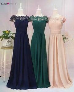 Image 4 - Ever Pretty Plus rozmiar suknie wieczorowe 2020 New Arrival elegancka linia szyfonowa bez pleców długa koronka formalne sukienki na przyjęcie EP09993
