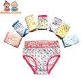 Горячие продажа 3 шт./лот baby дети девушки underwear трусы трусики короткие красочные трусики дети хлопок трусы