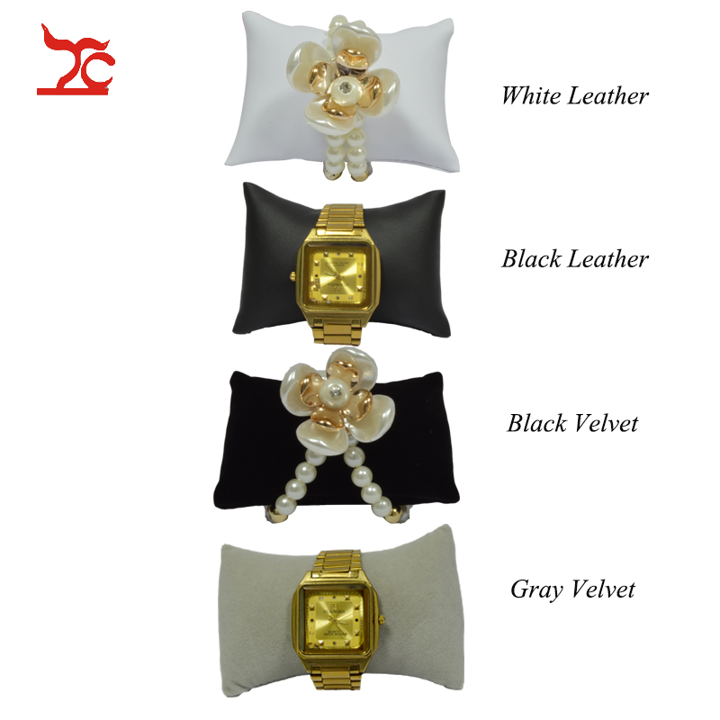 Factory Sale Black Velvet Jewelry Bracelet Display Cushion  Jewelry Box Pillow PU Watch Cushion Small