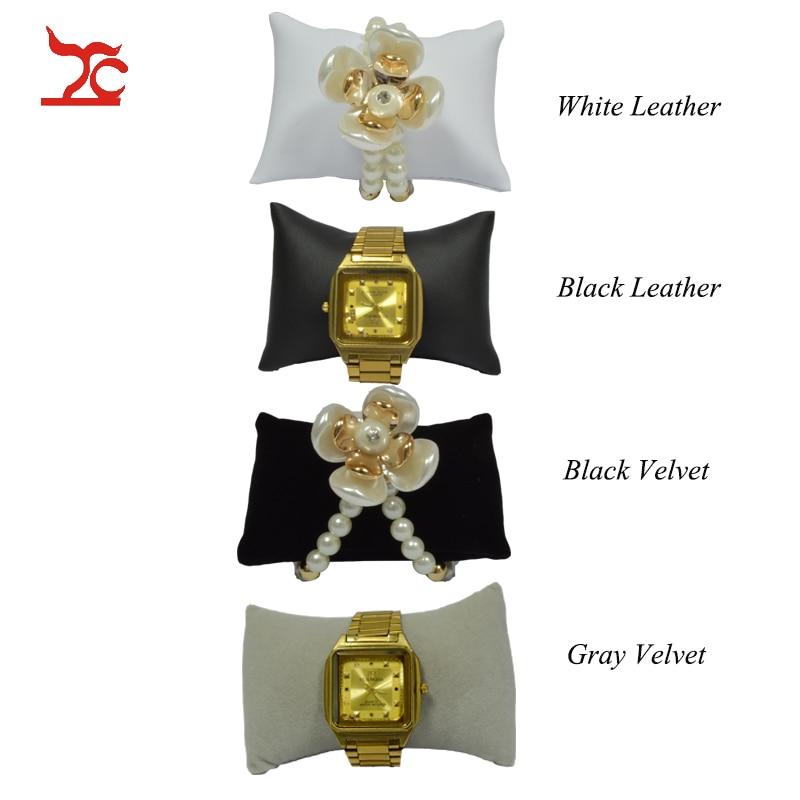 Factory Sale Black Velvet Jewelry Bracelet Display Cushion  Jewelry Box Pillow PU Watch Cushion Small