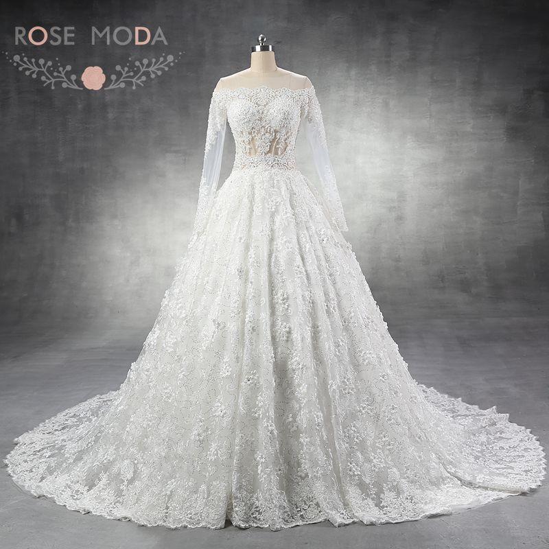 3d lace wedding dress