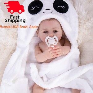 Image 1 - Banyo Reborn bebek bebekler Tam vücut Silikon vinil bebe reborn bebekler bebekler Boneca Brinquedos oyuncak çocuklar için Doğum Günü hediyeleri