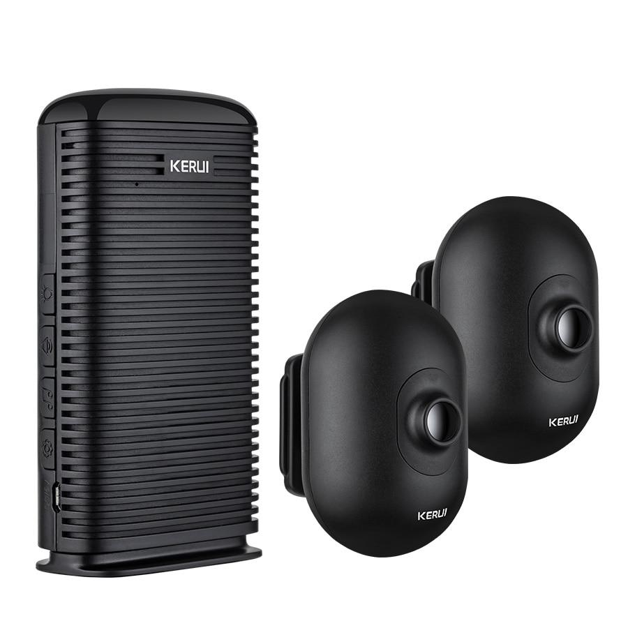 KERUI Wireless Home Alarm Waterproof PIR Motion Sensor Detector Security Alarm System Driveway Garage burglar Sensor Alarm