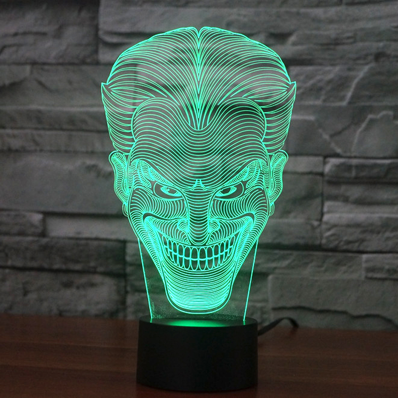 olorful USB Joker 3D Table Lamp Luminaria LED Night Light Remote Switch Decorative Lighting Atmosphere Lamp Holiday Gifts (5)