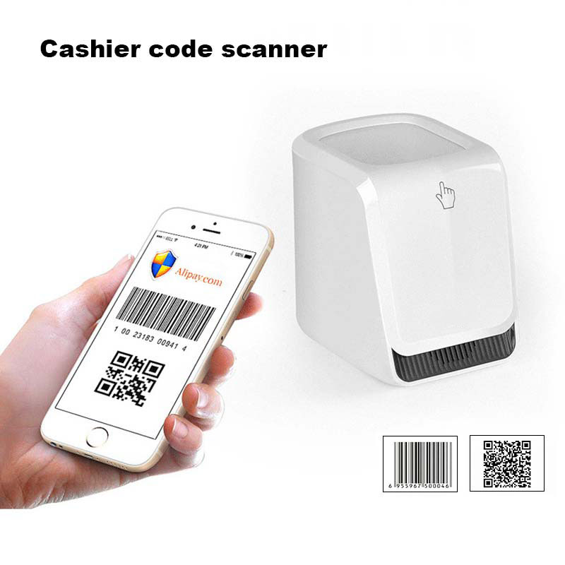 New Hot M6 QM Barcode Scanner Handsfree Wired 2D/1D Automatic Barcode Reader for Mobile Payment QJY99 cheapest stable durable wired 2d barcode scanner price
