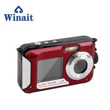 цена на 2017 Hot selling 24mp Digital Camera Full HD 1080P Camera Digital Waterproof Mini Camera With Dual Screen 16X Digital Zoom