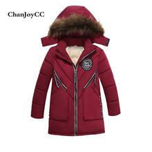 Brand ChanJoyCC  Autumn Winter New Fashion Children's Coat Kid Boys Long Sleeve Fashion With Pocket Thicker  Outerwear Coat
