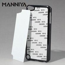 MANNIYA 승화 빈 전화 케이스 아이팟 터치 5 알루미늄 삽입 및 접착제 무료 배송! 100 개/몫