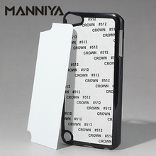 MANNIYA  Sublimation Blank phone Case for ipod touch 5 with Aluminum Inserts and glue Free Shipping! 100pcs/lot