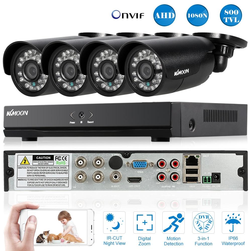 bilder für KKmoon 4CH 800TVL CCTV System Außen 4CH 960 H D1 DVR 4 stücke Wasserdichte IR Überwachungskamera Home Videoüberwachung 4 stücke Kabel