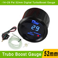 2'' 52mm Car Digital Boost Gauge -14~29 PSI Meter With Sensor Black Blue LED For Auto Gauge Car PSI Turbo Boost Meter Gauge 52mm