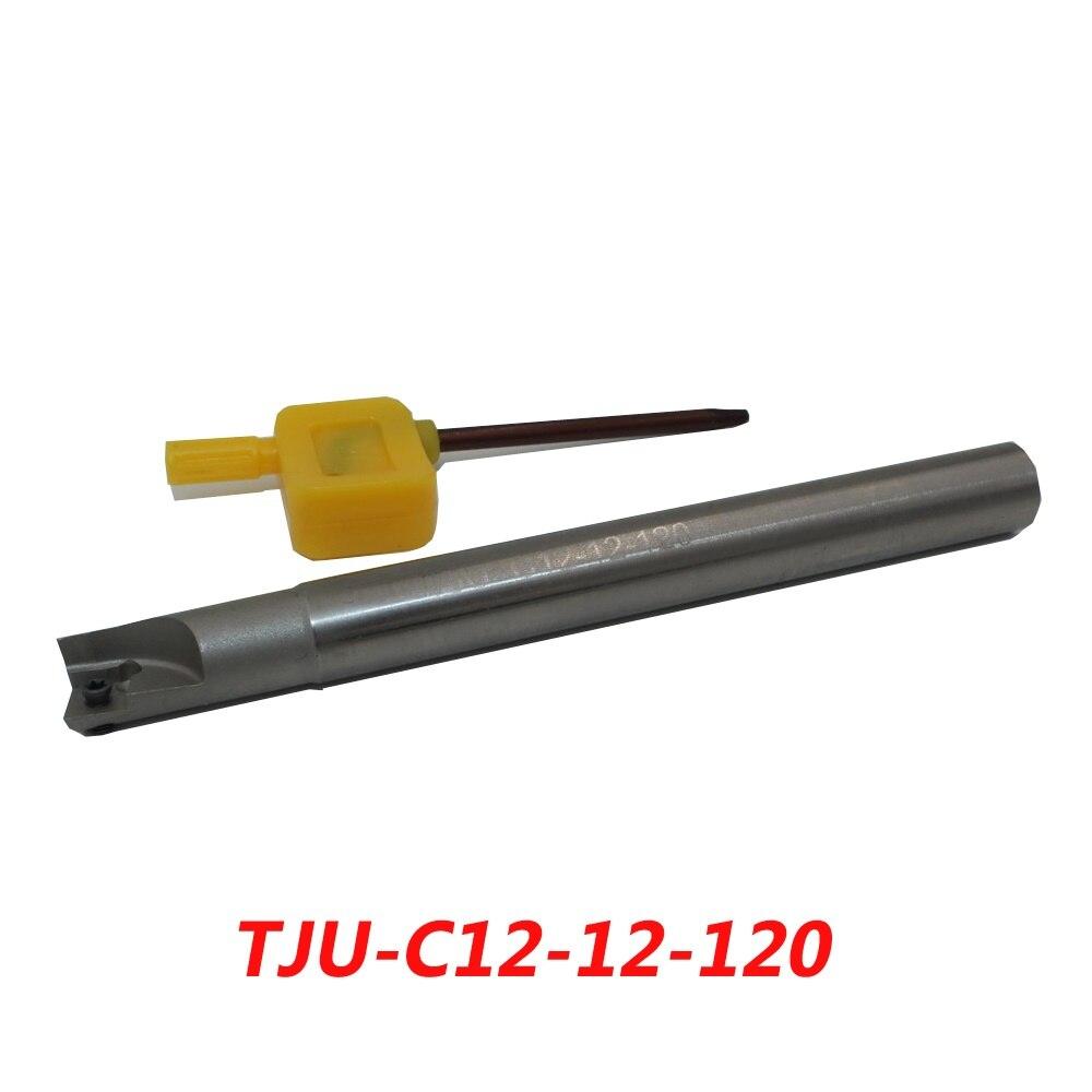 TJU-C12-12-120 Indexable Drilling And Milling Cutter Arbor For CPMT080204Z  цены