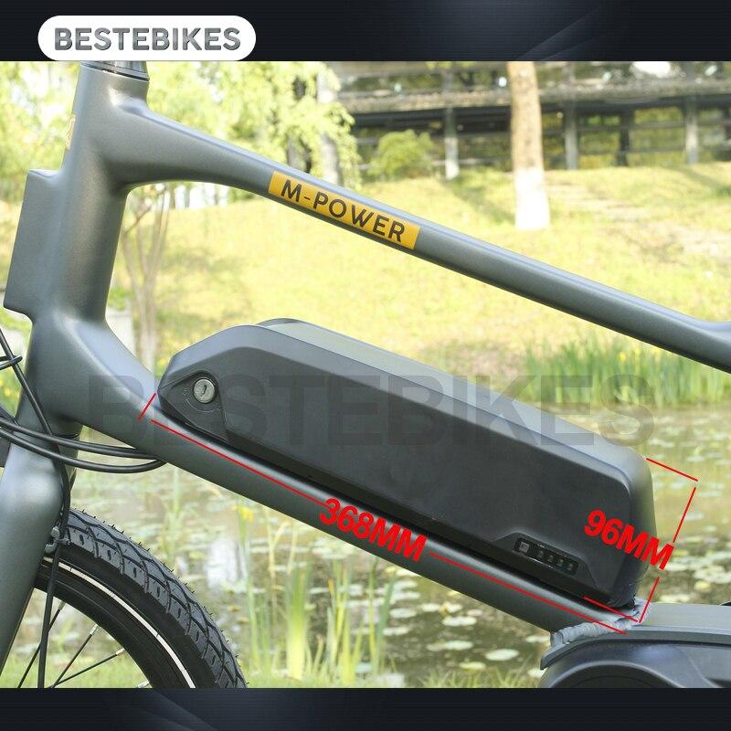 EU US Canada No tax 36V10.4AH down tub battery for electric bikes bafang BBS01B BS02B