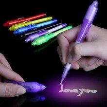 Juguetes de luz luminosa pluma mágica de luz oscura divertida novedad mordaza juguetes populares pluma mágica para niños adultos pintura cepillo