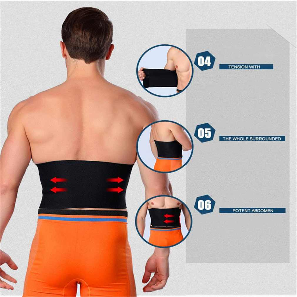 5708b50e0d2 ... REIZ Sweat Belt Premium Waist Weight Loss Trimmer Fat Burning  Adjustable Slimming Belt Women Men High ...