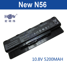 HSW 5200MAH A31-N56 A32-N56 A33-N56 laptop battery for Asus ROG G56J G56 G56J N46 N46V N46VM N56 N56DY N56JN N56VB N56VV N76