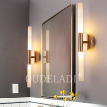 Modern metal tube pipe up down LED wall lamps Bedroom foyer washroom living room toilet bathroom wall light lamp