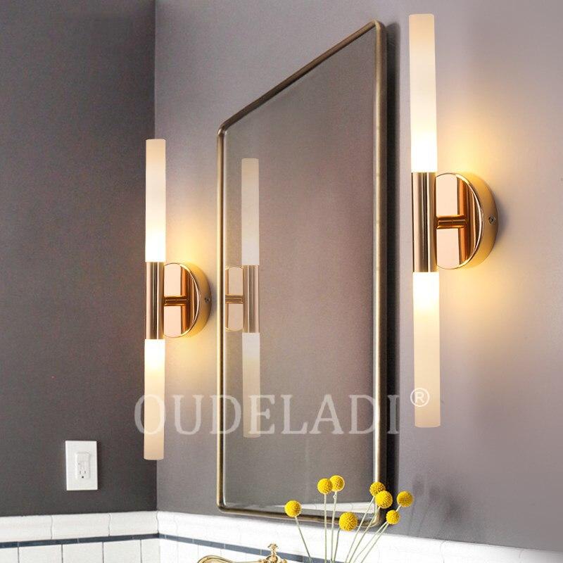 tubo de metal moderno para cima para baixo lampadas parede led quarto foyer banheiro sala estar