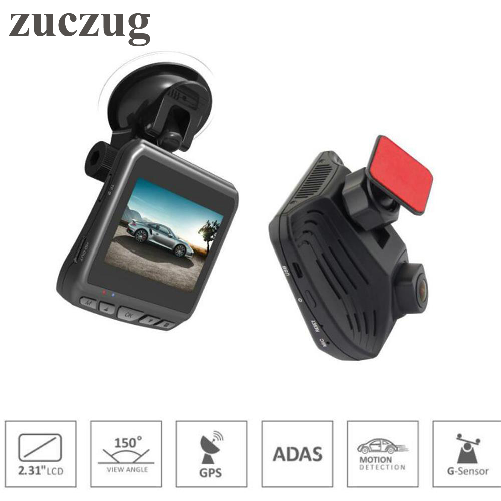 ZUCZUG Mini Car DVR Camera Video Recorder Built-in GPS ADAS Ambarella A12 2560x1440P Super HD 2.31 inch LCD Screen Dash Cam ambarella a12 chipset car gps dvr recorder