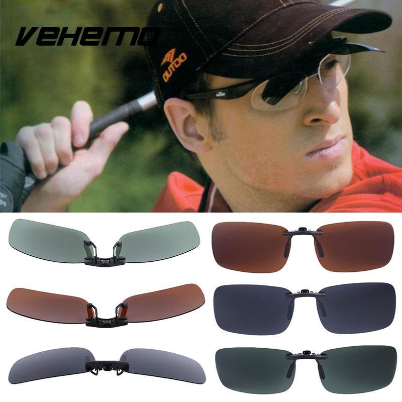 Vehemo замена Поляризованные линзы флип для солнцезащитных очков UV400 Солнцезащитные очки вождения