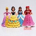 Disney Anime 4Pcs/Lot Princess Snow White Ariel Cinderella PVC Action Figure Toys Birthday Gift for Girls 12CM Model Dolls Toy