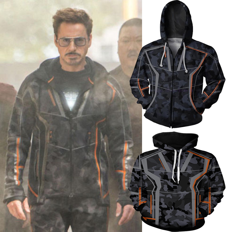 "The Avengers /""Tony/"" Stark 3D cosplay costume Hooded sweater coat cosplay costume"