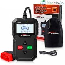 KONNWEI KW590 OBD2 считыватель кода сканер Авто диагностический инструмент для ремонта OBD II OBD 2 сканер лучше ELM327 на русском языке
