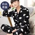 Caliente Los Hombres de la Franela Pijamas Set Coral Polar Hombre Más Tamaño Ropa de Dormir Pijamas Homewear Camisones Despojado Hombres Duermen Salón A Cuadros 269