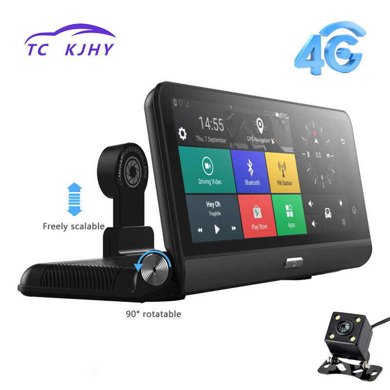 8 IPS Car DVR 4G WIFI Car video Recorder Rear View Dash Camera GPS FHD 1080P Dual Lens Android Navigation ADAS Gravity Sensor