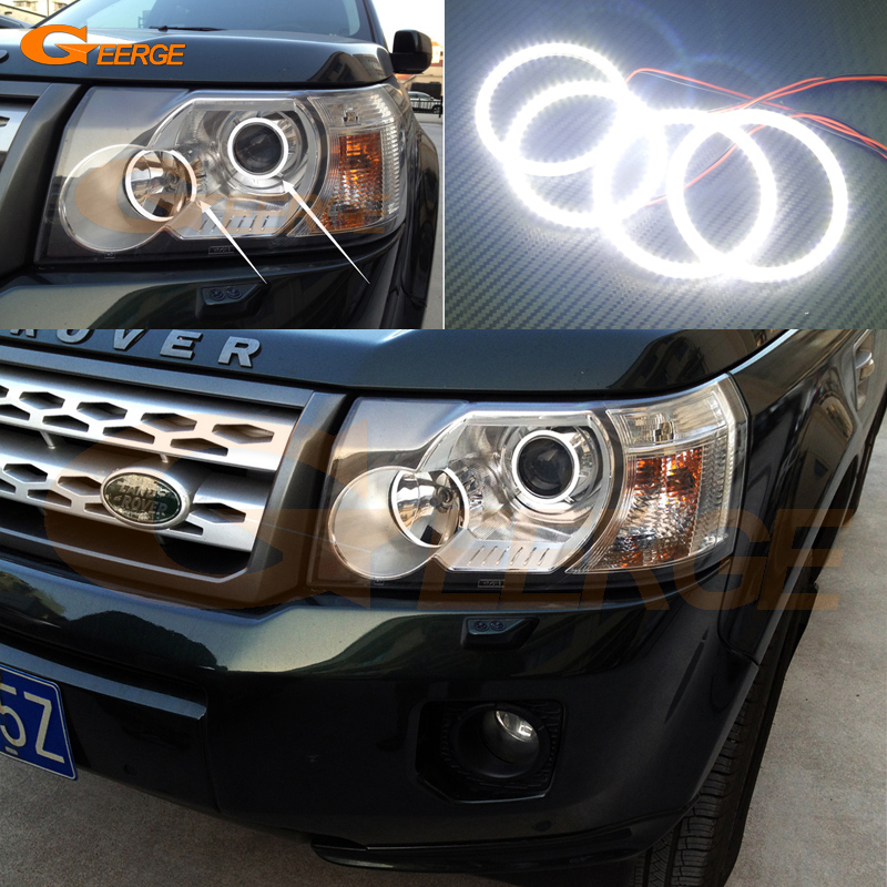 For Land Rover Freelander 2 2007 2008 2009 2010 2011 2012 Xenon Headlight Ultra bright illumination smd led Angel Eyes kit for land rover freelander lr2 2007 2008 2009 2010 xenon headlight excellent ultra bright illumination smd led angel eyes kit