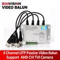 UTP 4-канальный Пассивный Видео Балун 4 Канал CAT5 CCTV BNC Видео Балун Поддерживает 1080 P/720 P AHD, HDCVI, HDTVI Камеры