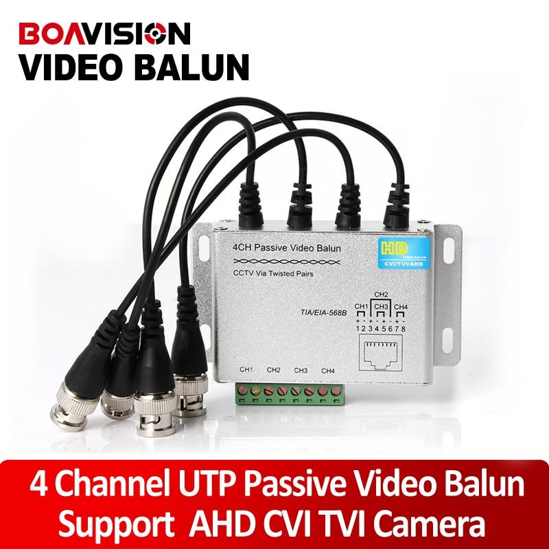 UTP 4Ch Passive Video Balun 4 Channel CAT5 CCTV BNC Video Balun Support 1080P/720P AHD,HDCVI,HDTVI Camera ahd cvi tvi cvbs video balun support 720p 1080p camera cctv system 720p 1080p tv link passive ahd video balun via utp cable