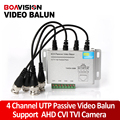 UTP 4Ch Passive Video Balun 4 Channel CAT5 CCTV BNC Video Balun Support 1080P/720P AHD,HDCVI,HDTVI Camera