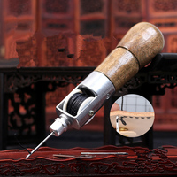 Handmade Leather Hand Stitching Machine DIY Hand Stitched Cowskin Leather Cowhide Leather Tool Diamond Cut Leather