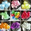 Negro globo 100 unids/lote 1.5g 10 Pulgadas Perla Helio Decoraciones de la boda de Bola Metálica Látex globo Del juguete Del Bebé envío libre