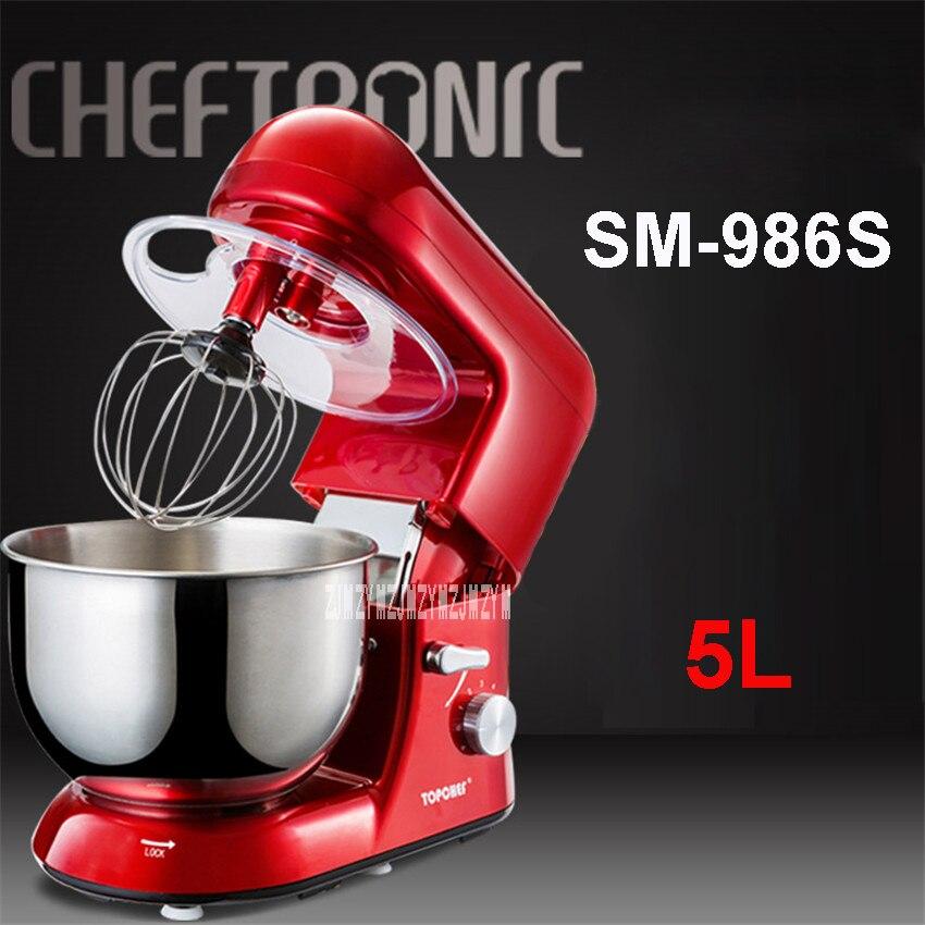 SM-986S 220 V / 50 Hz Electric Egg Blender 5L Gourmet Kitchen Gourmet Mixer / Cake Mixer 1000W Speed 13500r / min Food Mixers