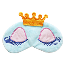 2016 New Product Cute Eyes Cover Princess Crown Style Travel Sleeping Blindfold Shade Eye