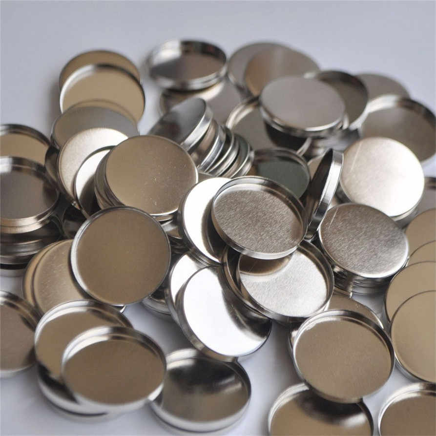 100pcs Empty Round Tin Pans for Powder Eyeshadow 26mm Responsive to Magnets 180404 drop shipping